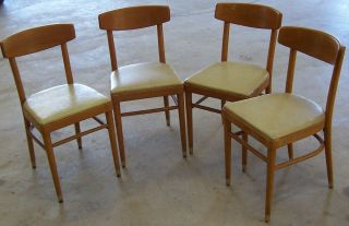 Set Of 4 Vintage Thonet Chairs.  Good/fair.  Maybe 1950