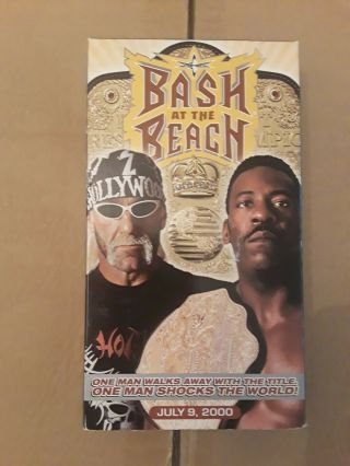 Wcw Bash At The Beach 2000 Vhs Rare Wrestling Hulk Hogan Vince Russo Wwf Wwe