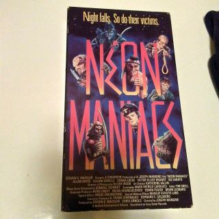 Vintage Vhs Tape Neon Maniacs Rare Cult Horror