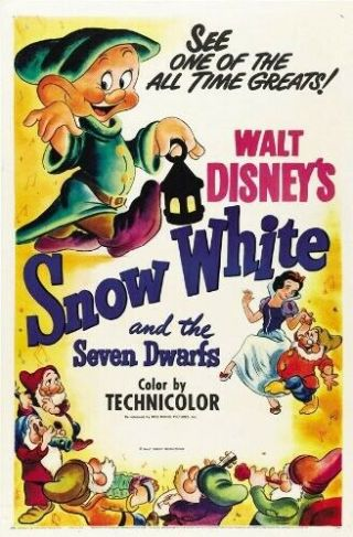 Vintage Movie 16mm Snow White And The Seven Dwarfs Feature 1937 Disney Film