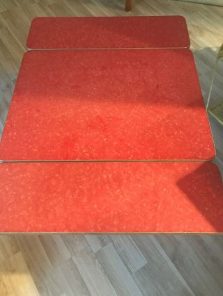 Vintage 1950 Red Retro Formica Dinette Kitchen Table Made In The Usa