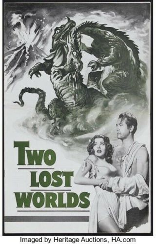 Movie 16mm Two Lost Worlds Feature Vintage 1951 Drama Film Horror Sci - Fi