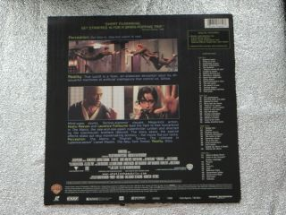 THE MATRIX Laserdisc LD Keanu Reeves RARE 2
