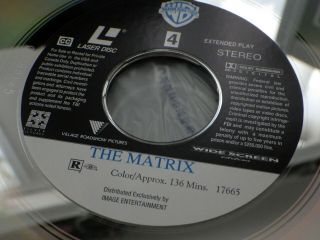 THE MATRIX Laserdisc LD Keanu Reeves RARE 8