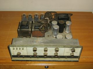 Vintage Stromberg Carlson Stereo 8 Tube Amplifier Powers Up