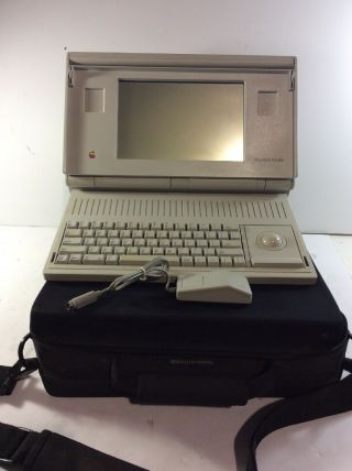 Apple Vintage Macintosh Portable M5120 W/mouse And Case  - Dg