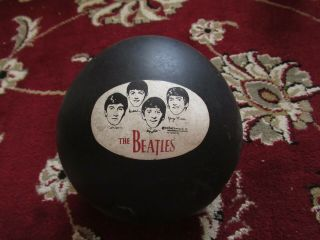 Beatles Ultra Rare 1964 Beatles Black Rubber Play Ball Holds Air