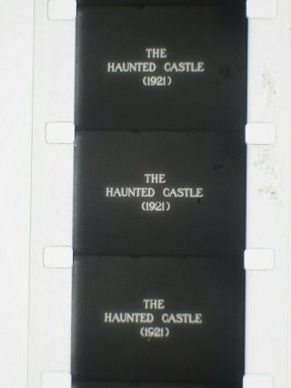 F.  W.  Murnau THE HAUNTED CASTLE (1921) RARE 16mm feature complete on 1 reel 4