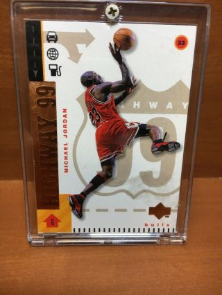 52) Rare 290 98 - 99 Upper Deck Michael Jordan Highway 99 Insert Numbered 004/100