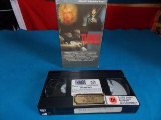 "Vhs Horror Slasher Movie "" Things "" Left Field Productions Ultra Rare Canadian Bad"