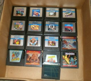 Vintage Atari 5200 4 - Port With 2 Controllers All Cords And 18 Games.  WOW 2