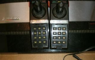 Vintage Atari 5200 4 - Port With 2 Controllers All Cords And 18 Games.  WOW 5