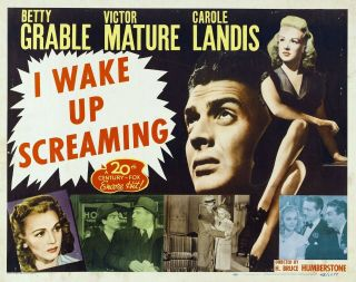 Rare 16mm Feature: I Wake Up Screaming (betty Grable / Victor Mature) Film Noir