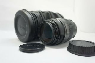 [ Rare W/ Case ] Canon Ef Macro 100mm F/2.  8 Lens From Japan 0315