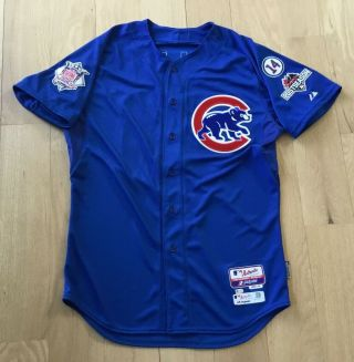 Jorge Soler 2015 Game Issued Chicago Cubs Jersey Worn Rare Postseason Patch