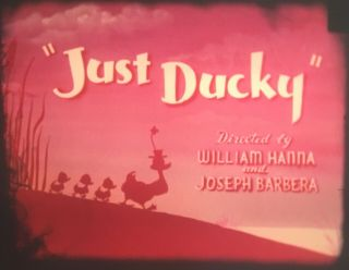 "Tom And Jerry 16mm Film ""just Ducky"" 1953 Vintage Cartoon"