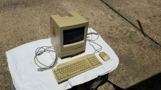 Vintage Apple Macintosh Mac Computer - With Keyboard,  Mouse,  And Case