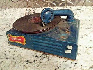 Vintage Corron 78 Rpm Childs Phonograph Record Player In