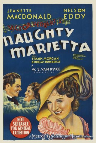 Vintage Movie 16mm Naughty Marietta Tree Feature 1935 Film Drama Adventure