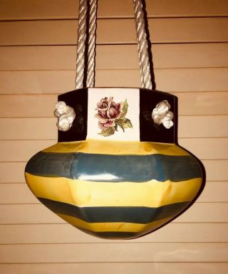 Vintage Mackenzie Childs Sea And Shore Hanging Planter