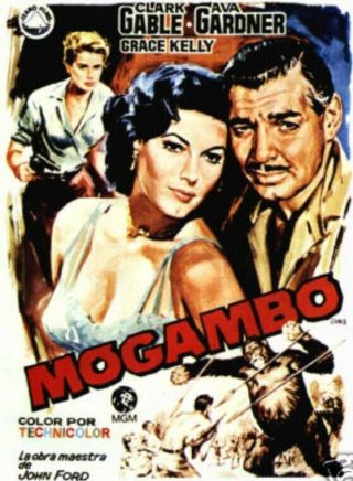Movie 16mm Mogambo Feature Vintage Drama 1953 Film Clarke Gable
