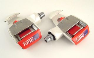 Vintage 1 Pair Gc Time Eq Equipe Magnesium Clipless Pedals Road Bike (rq)