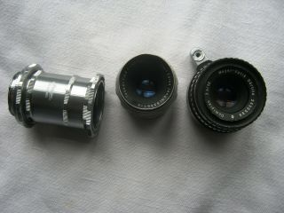 Vintage Meyer - Optic Gorlitz Domiplan And Carl Zeiss F2.  8 50 Lenses For Exakta