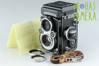 Rollei Rolleiflex 3.  5f Tlr Film Camera White Face,  75mm F/3.  5 Lens 14455e5