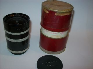 Very Rare P.  Angenieux 2.  5/35 Functional 35mm 2.  5 M39 Leica Mount Made Wide Lens