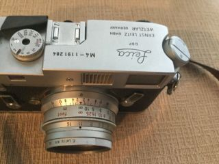 Leica M4 35mm Range Finder Film Camera with Leitz Summicron Lens 11