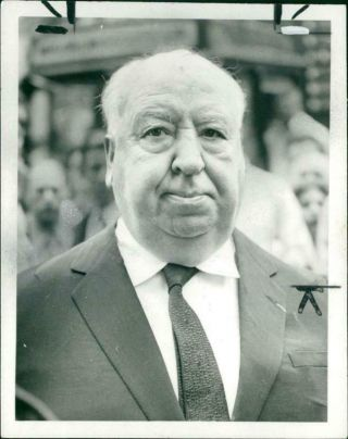 Alfred Hitchcock Film Director.  - Vintage Photo