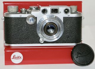Leica Iiif Black Dial With 5cm F/3.  5 Elmar Made In Germany 1951