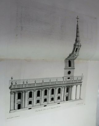 JAMES GIBBS ' BOOK OF ARCHITECTURE/1728/RARE 1st Edit/FINE LEATHER/1 of 550 COPIES 10