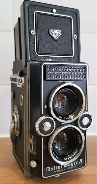 Vintage 1960s Rollei Magic Ii Tlr Camera With Xener F 3.  5 75mm Lens.  In Vgc