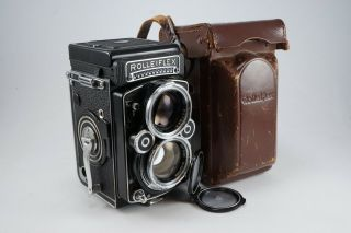 Good Rolleiflex 2.  8f 120mm Tlr Film Camera W/ Zeiss Planar 80mm F2.  8