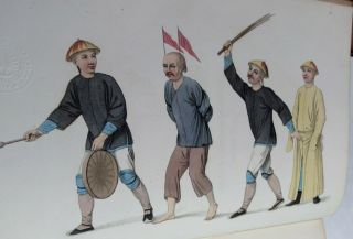 THE PUNISHMENTS OF CHINA/1804/RARE 1st Ed.  /22 HAND COLORED STIPPLE ENGRAVED PLTS 11