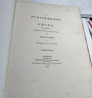 THE PUNISHMENTS OF CHINA/1804/RARE 1st Ed.  /22 HAND COLORED STIPPLE ENGRAVED PLTS 3