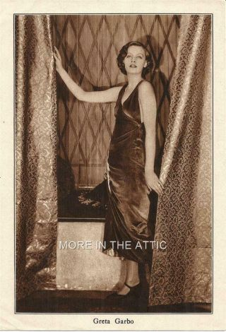 Gorgeous Greta Garbo Vintage Silent Cinema Era Portrait Premium