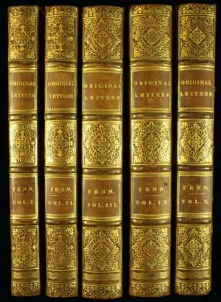 The Paston Letters 1787 - 1823 Fenn Letters 5 Vols 4to Wars Roses 1stnr