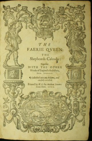 Edmund Spenser Complete The Faerie Queen 1611 Folio Shakespeare 1st Ed Nr