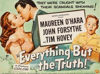 Vintage Movie 16mm Everything But The Truth Tree Feature 1956 Film Drama