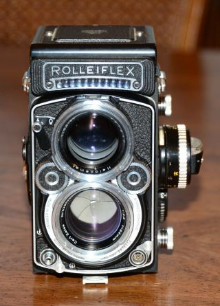 rolleiflex 2.  8F whiteface zeiss planar immaculate 3