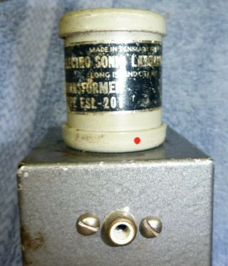 Electro - Sonic Laboratories Esl - 201 Moving Coil Step Up Transformer