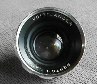 Voigtlander Septon 1:2/50 Rangefinder Camera Lens 4 Bessamatic Ultramatic