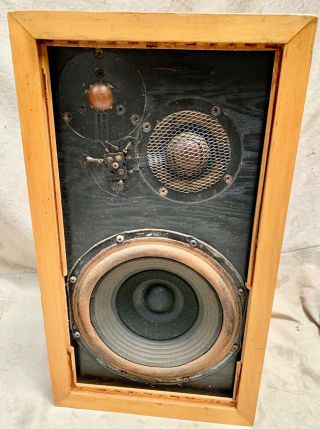 One Vintage Acoustic Research Ar3 Speaker Paint Grade Wood Cabinet (a165)