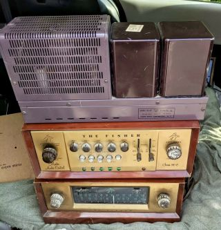 Fisher Model 80 C Preamp,  80 Az Amp,  80 Preamp Tuner Cases,  All