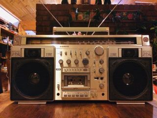 Huge Classic Vintage Sanyo Mr - X920 Radio Cassette Ghetto Blaster Boombox Aux