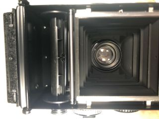Rolleiflex 3.  5f TLR Camera Zeiss f3.  5 Planar 75mm with Prism and 8