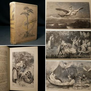1875 Fairy Guardians Willoughby Illustrations Plates Fantasy Journey Adventure