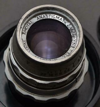 Taylor - Hobbson Cooke Elc Amotal Anastigmat 2 Inch F/2 M39 Ltm Lens For Leica Rf